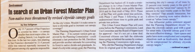 urban forest master plan - dee seligman in WP Monthly 1