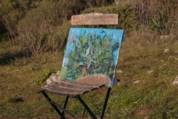 Plein-air painting - a huge tree