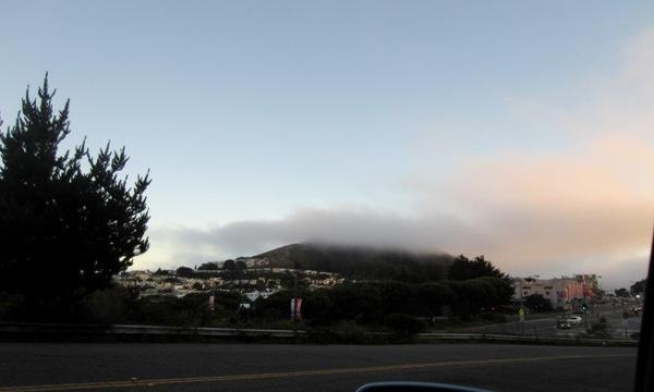 fog atop Mount Davidson