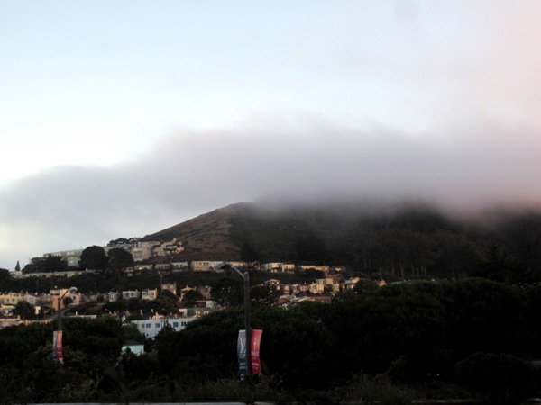 Mt D and the fog