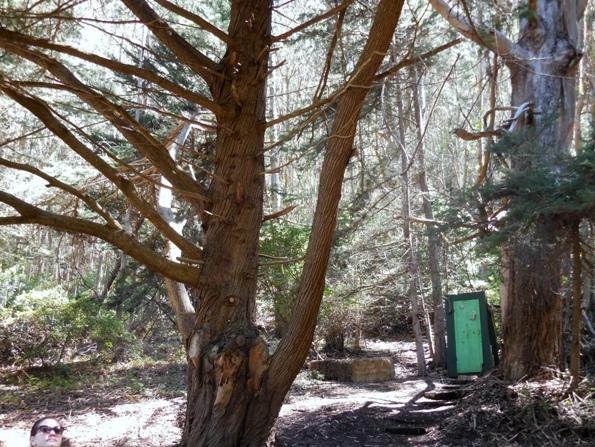 antique outhouse Sharp Park
