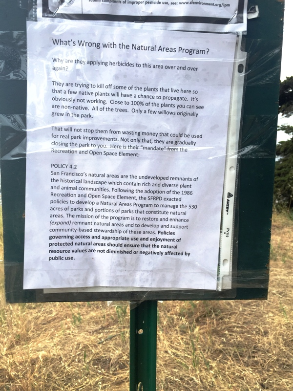 Fixed sign - whats wrong with Natural Areas Program