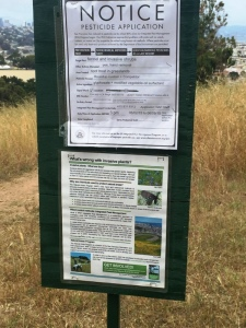 Natural Areas Program pesticide notice - Roundup on fennel