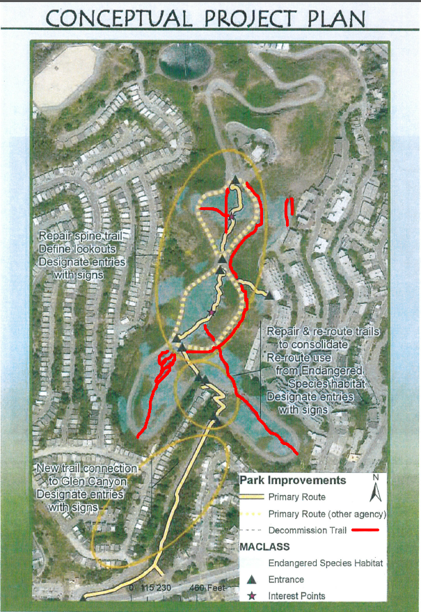 twin peaks trail closures in red